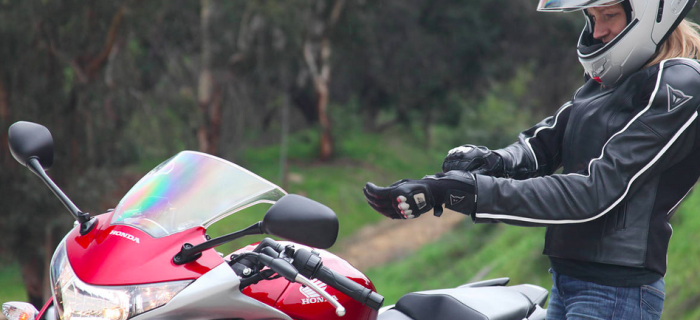Always buy motorcycle gear with safety in mind