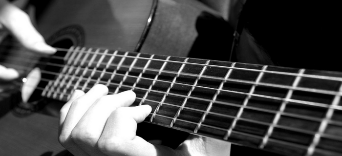 Playing the guitar for recreation and creativity