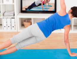 Easy Indoor exercises you can do if you're snowed in.